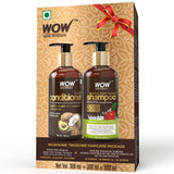 WOW Skin Science Apple Cider Vinegar Shampoo +  Hair Conditioner = WOWSOME TWOSOME Hair Care Package - 600mL - BuyWow