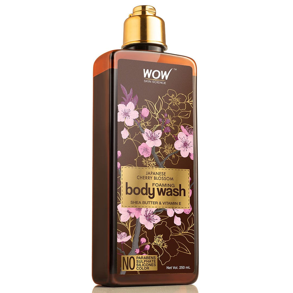 WOW Skin Science Japanese Cherry Blossom Foaming Body Wash - No Parabens, Sulphate, Silicones & Color - 250 ml