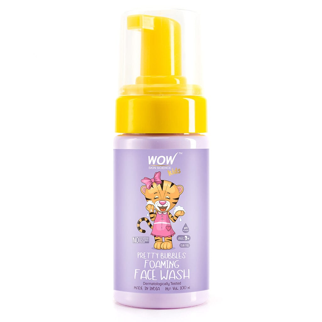 WOW Skin Science Pretty Bubbles Foaming Face Wash with Aloe Barbadensis Leaf & Calendula Flower Extract - Tear Free - No Parabens, Sulphates, Silicones & Color - 100 ml - BuyWow
