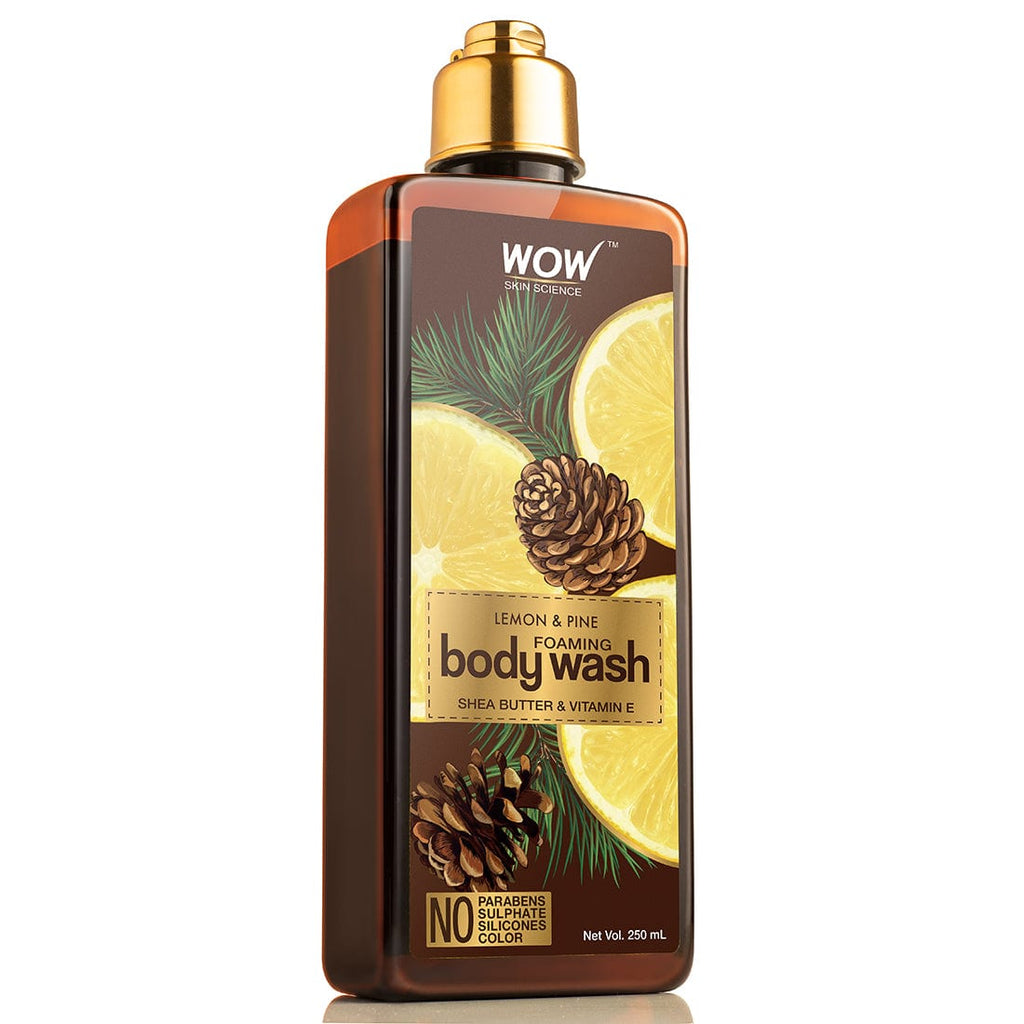 WOW Skin Science Lemon & Pine Foaming Body Wash - No Parabens, Sulphate, Silicones & Color - 250 ml - BuyWow