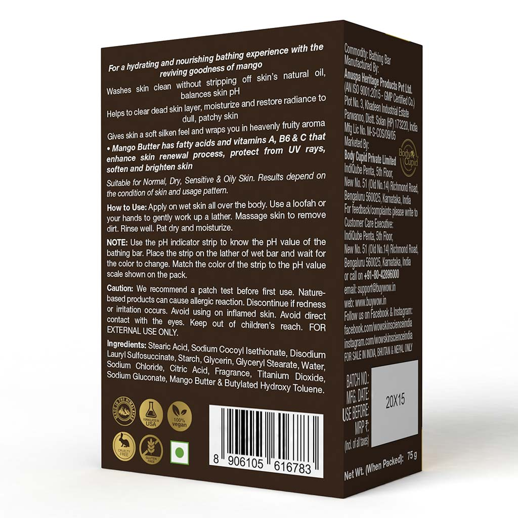 WOW Skin Science Mango Body Butter - No Parabens, Silicones, Mineral Oil & Color - 200 ml