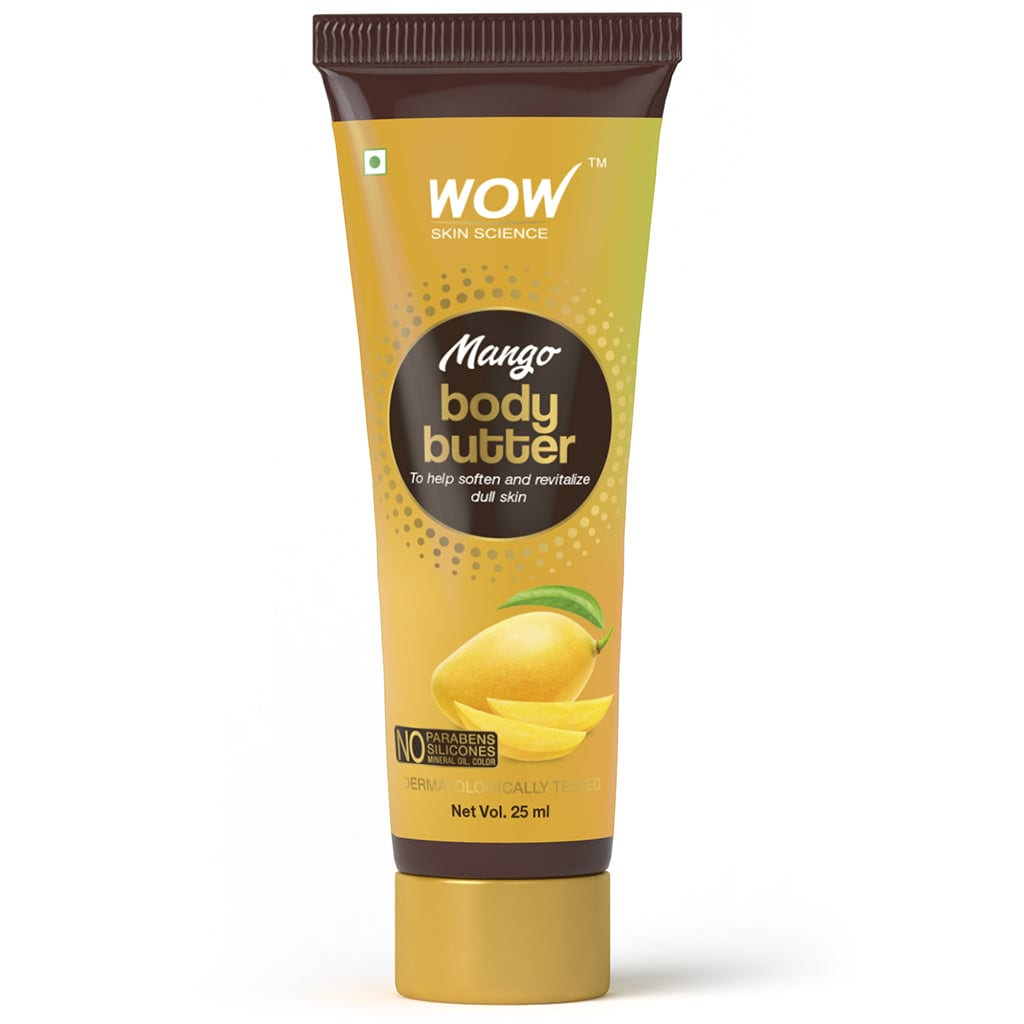 SAMPLER: WOW Skin Science Mango Body Butter - No Parabens, Silicones, Mineral Oil & Color - 25 ml