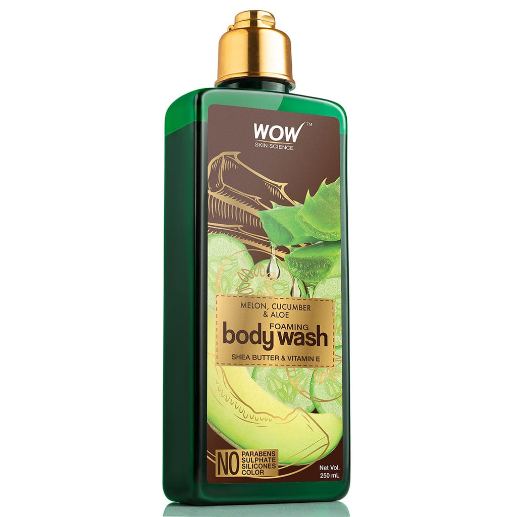 WOW Skin Science Melon, Cucumber & Aloe Foaming Body Wash - No Parabens, Sulphate, Silicones & Color - 250 ml - BuyWow