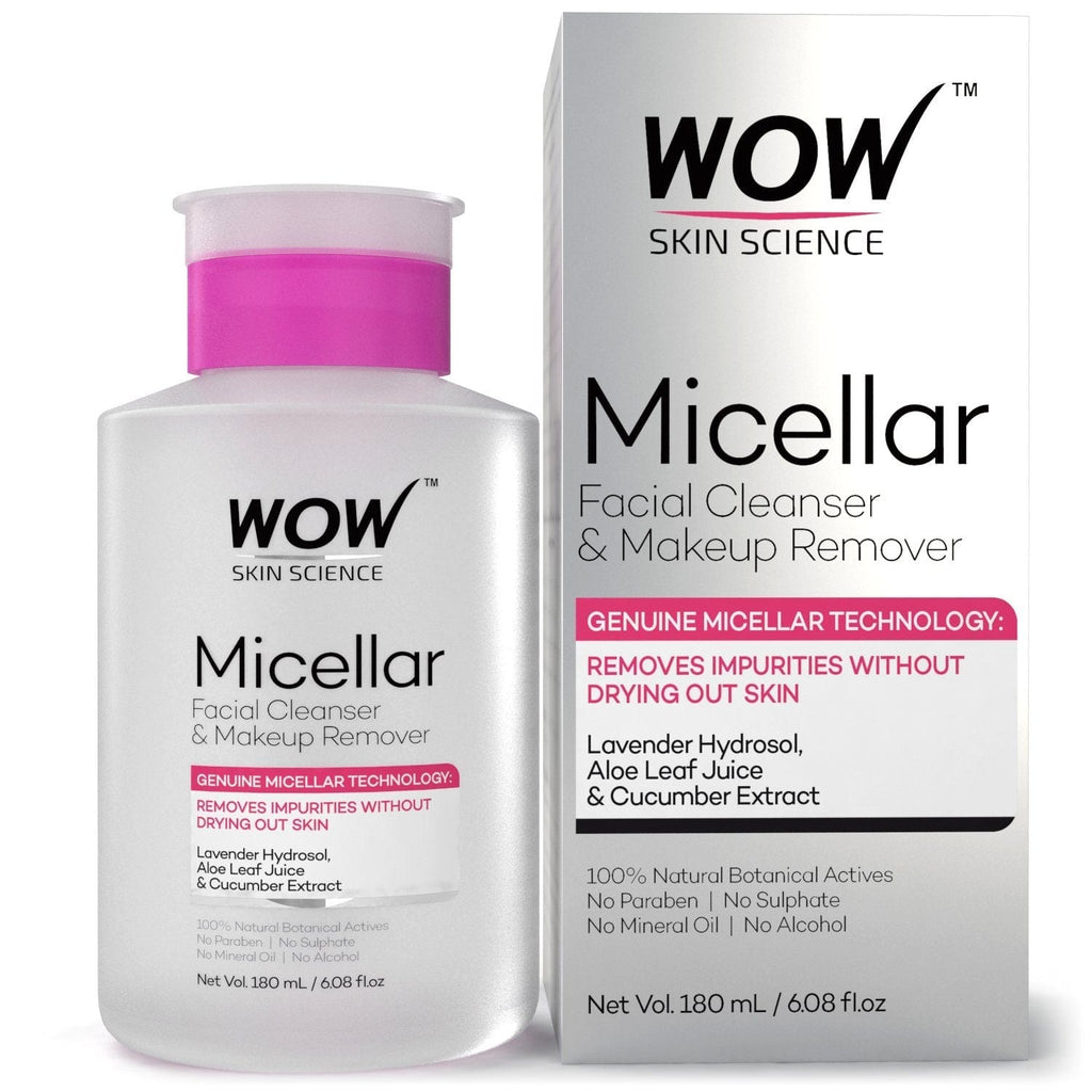 WOW Skin Science Micellar Water Facial Cleanser & Makeup Remover - 180 mL - BuyWow