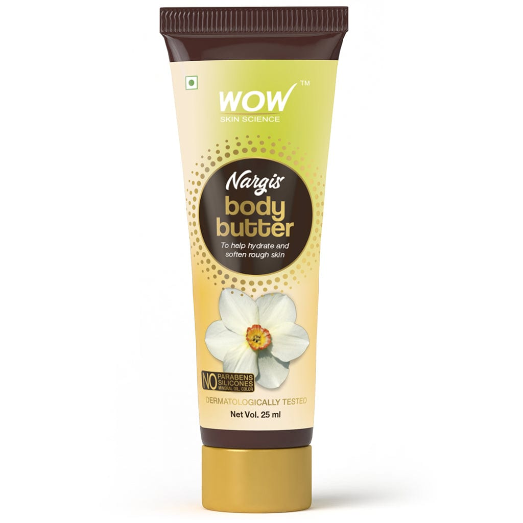 WOW Skin Science Nargis Body Butter - No Parabens, Silicones, Mineral Oil & Color - 25 ml