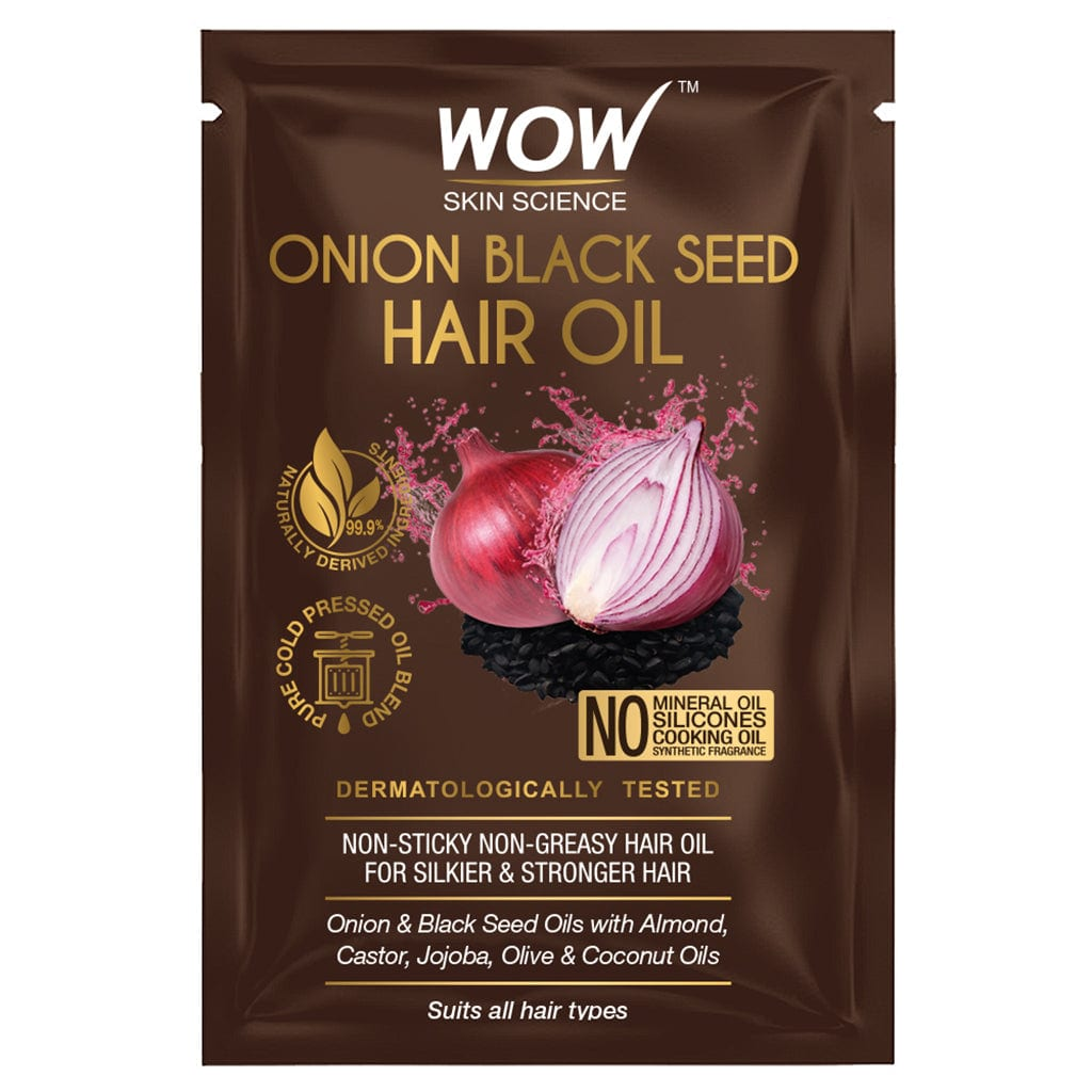 WOW Skin Science Onion Black Seed Hair Oil - 5 ml - SACHET