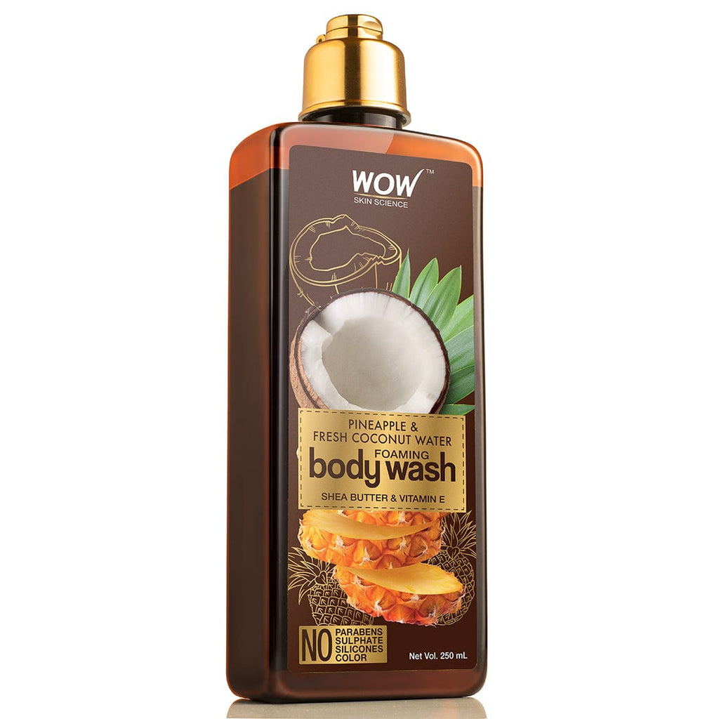 WOW Skin Science Pineapple & Fresh Coconut Water Foaming Body Wash - No Parabens, Sulphate, Silicones & Color - 250 ml - BuyWow