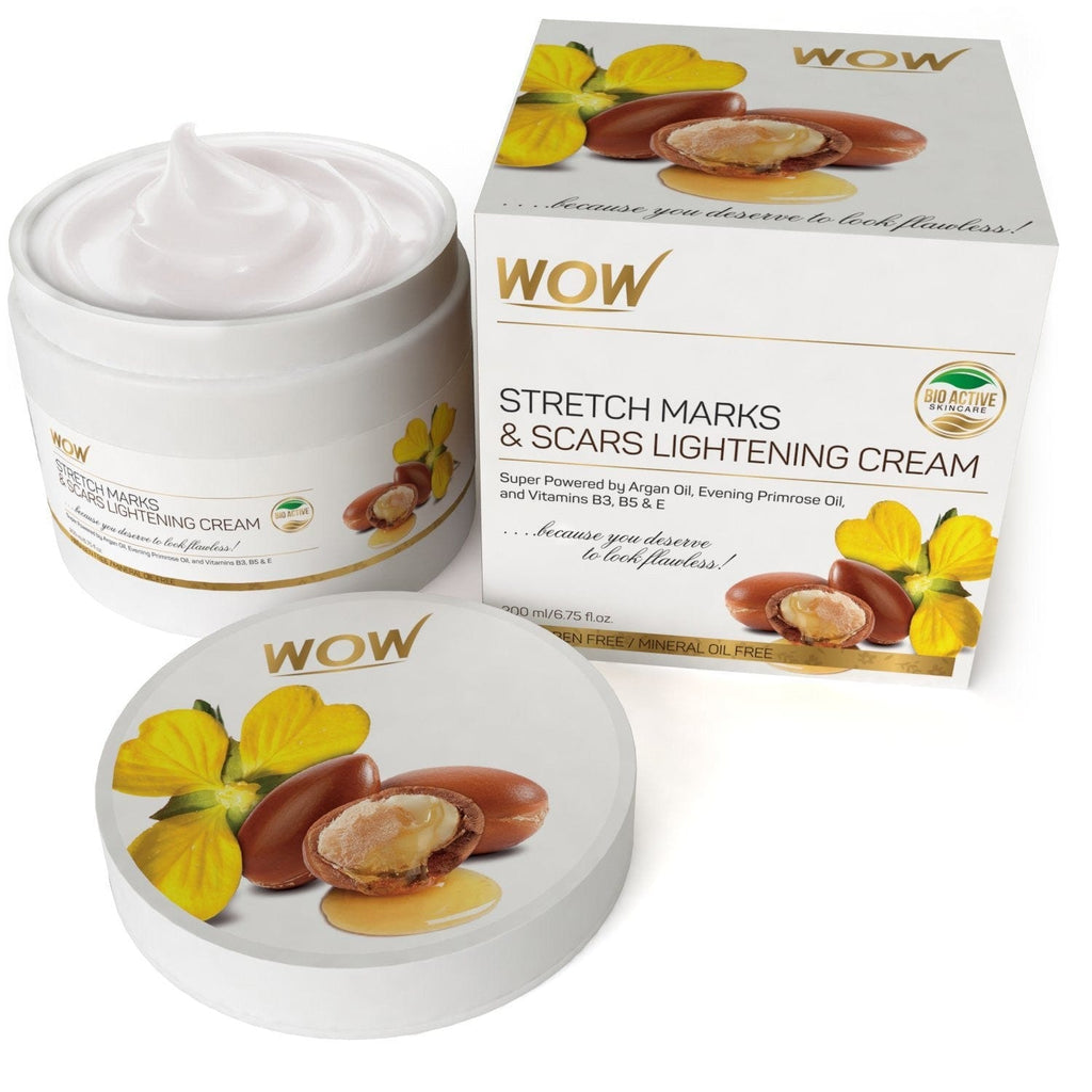 WOW Skin Science Stretch Marks and Scar Lightening Oil Cream - 200 ml - BuyWow