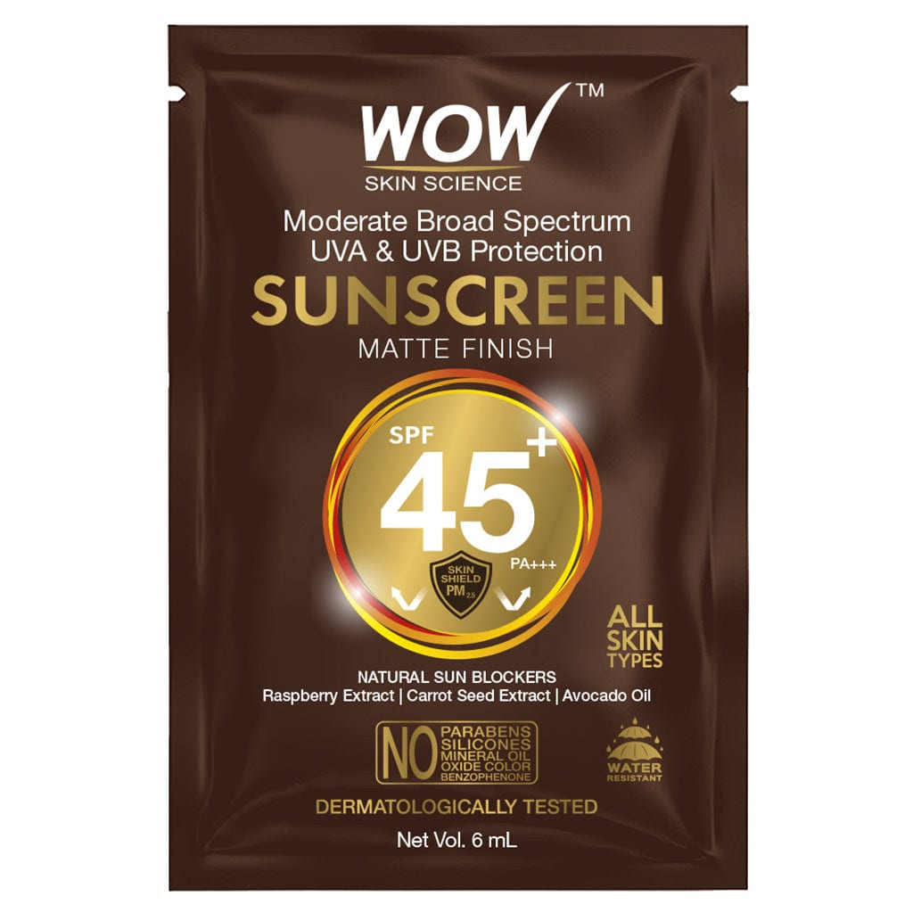 WOW Skin Science Sunscreen SPF 45+ PA+++ - 6mL - SACHET - BuyWow