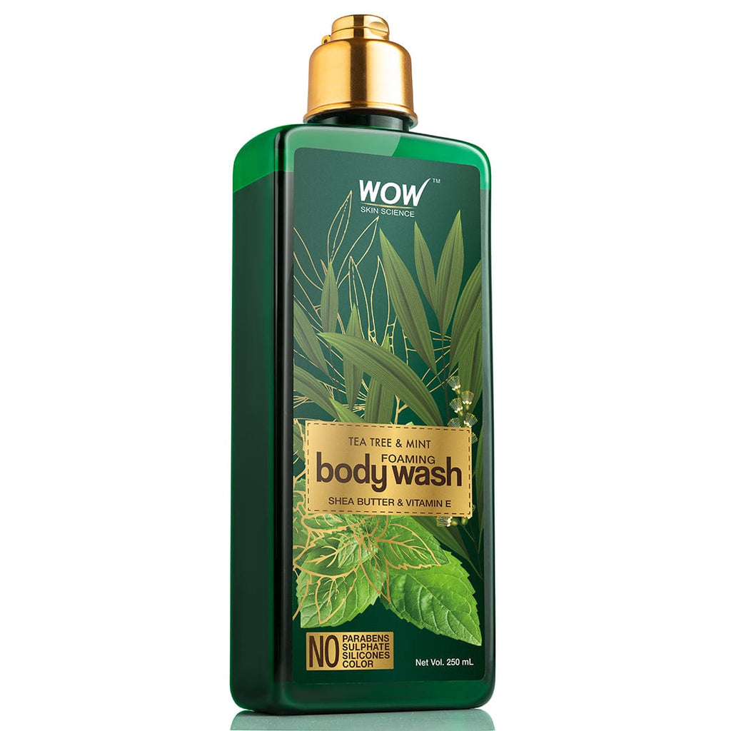 WOW Skin Science Tea Tree & Mint Foaming Body Wash - No Parabens, Sulphate, Silicones & Color - 250 ml - BuyWow