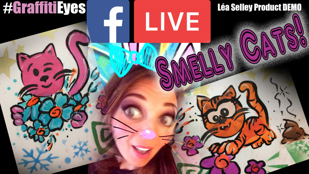 Smelly Cats!  Facebook Live Art Therapy Demo!