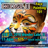 Chicago Face Painting Class GraffitiEyes stencils