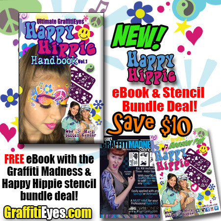 Happy Hippie Book & Stencil Bundle - FREE eBook download!