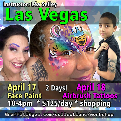 Las Vegas - April 17 / 18, 2018 - Face Painting / Airbrush Tattoo Class!