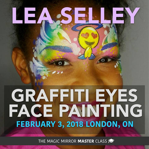 London Ontario - Sat Feb 3, 2018 - GraffitiEyes Face Painting Class - Perfect stencil transfer techniques!