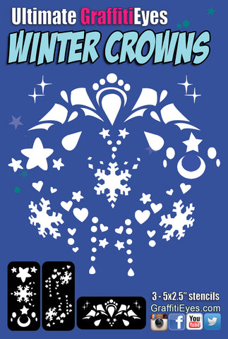 * NEW * Winter Crowns Stencil Kit