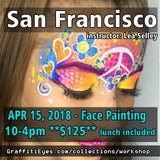 San Francisco Face Painting Class GraffitiEyes stencils