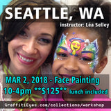 Seattle Face Painting Class GraffitiEyes stencils