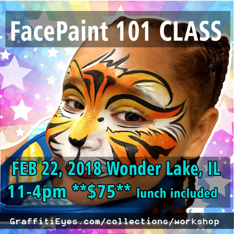 Wonder Lake Illinois - Thurs Feb 22, 2018 - Beginners Face Painting