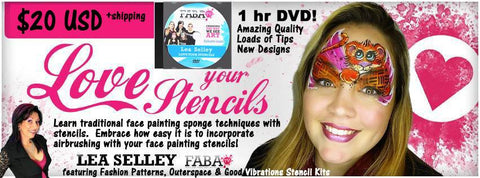 DVD - Face Painting Stencil Techniques with Airbrush & Brush 'n Sponge!