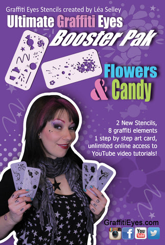Flowers & Candy Booster Stencils