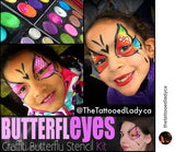 ButterflEyes Graffiti Face Painting Stencil Kit
