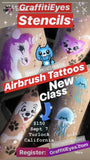 Turlock California - Fri Sept 7, 2018 - Airbrush TattooPro Stencil Class for Beginners!
