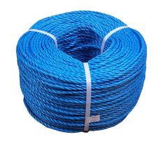 BLUE POLY PROP ROPE COIL 250MTRS