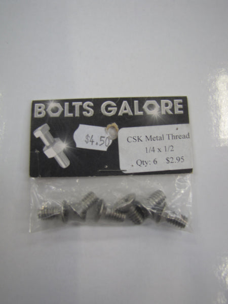 METAL THREAD SIZE 1/4 COUNTERSUNK