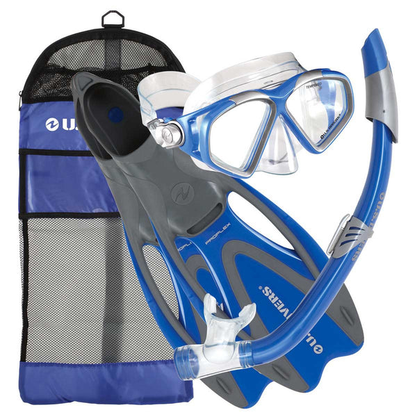 US DIVERS FIESTA SNORKEL AND FIN SET
