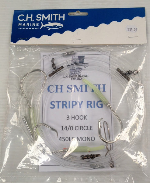 C.H. SMITH MARINE 3 HOOK STRIPEY RIG