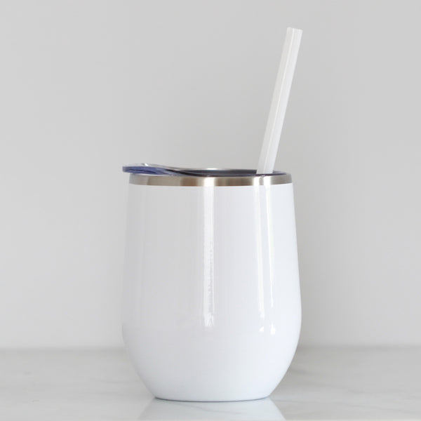 White Wine Tumbler - Lowcountry Design Studio