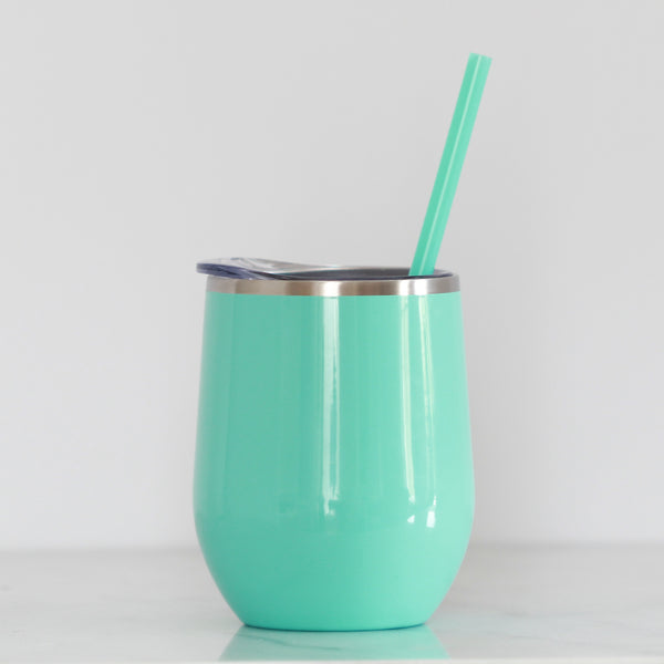 Mint Wine Tumbler - Lowcountry Design Studio