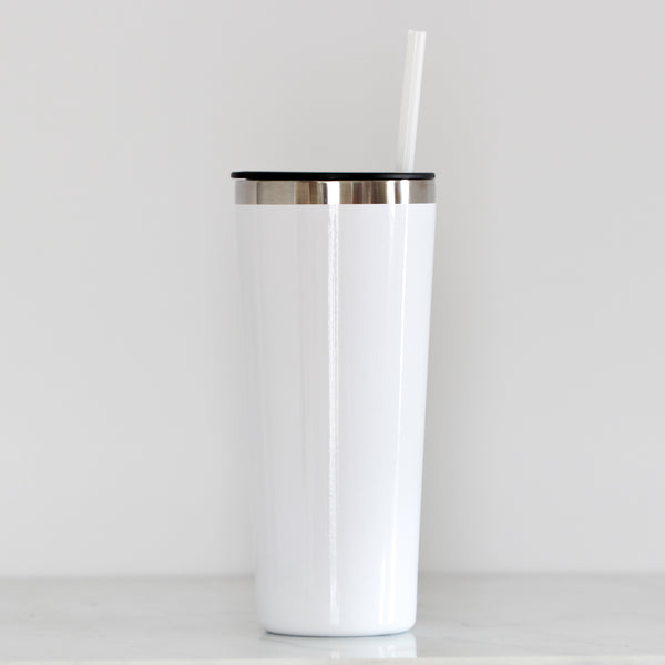 White Tall Tumbler - Lowcountry Design Studio