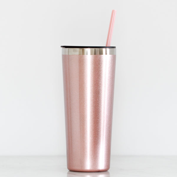 Rose Gold Tall Tumbler - Lowcountry Design Studio