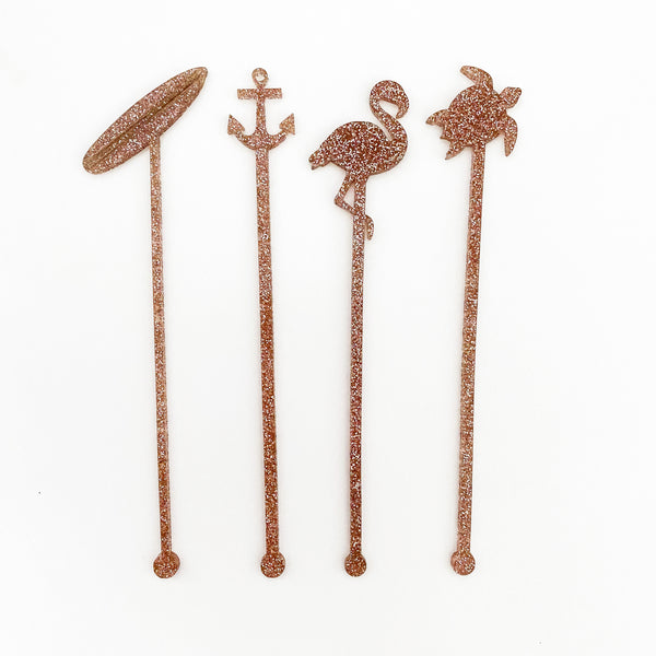 Cocktail Swizzle Sticks | Set 3 - Lowcountry Design Studio