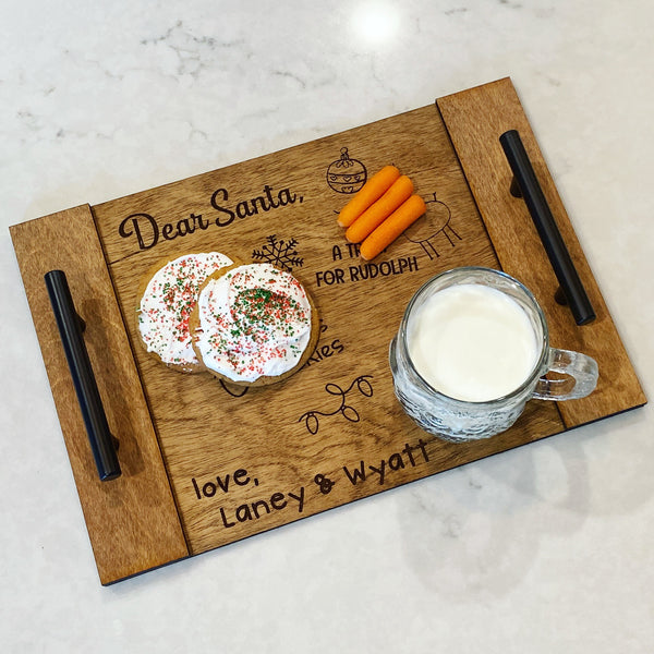 Engraved Santa Tray