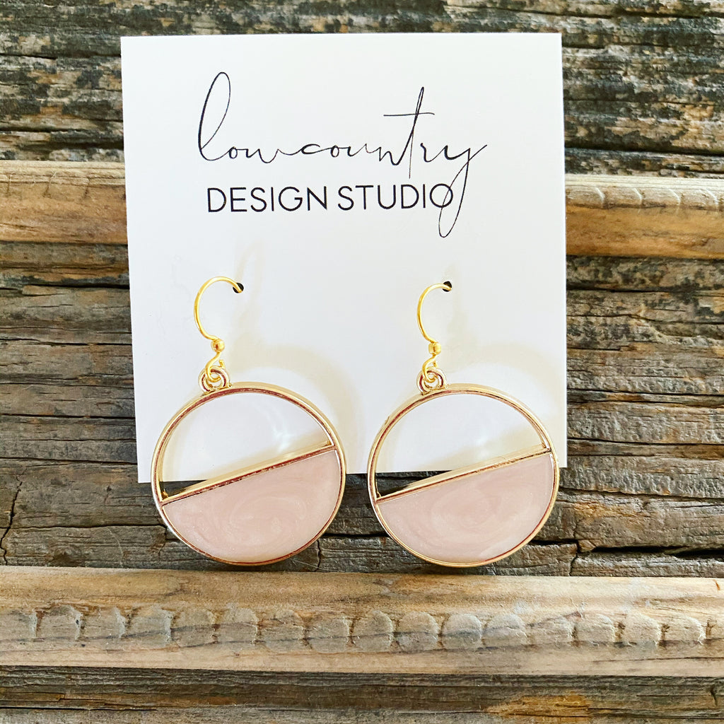 Blush & Gold Hoops