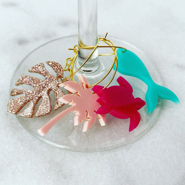 Beachy Wine Charms - Lowcountry Design Studio