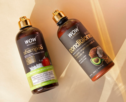 WOW Skin Science Apple Cider Vinegar Shampoo And Coconut Oil Conditioner