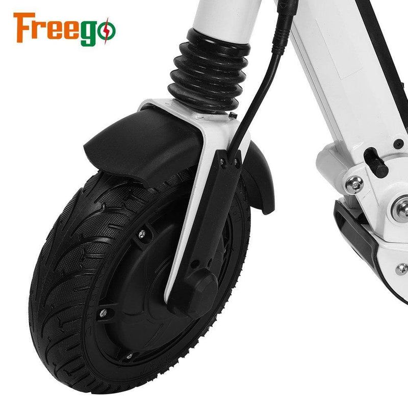 "Freego Kugoo Adults Electric Scooter, 350W Motor, Up to 21MPH, 8.5"" Solid Tires, Stock in Poland white"