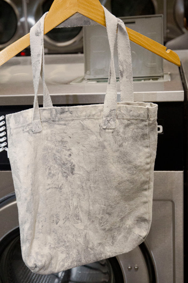 Mini Tote, Tie Dye, Grey Marble