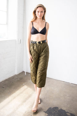 Quilted Liner Pant, Khaki Green (Medium, XL)