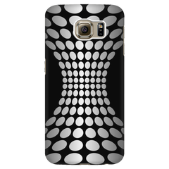 Smart Phone Case - Samsung & iPhones - All Models - Black and White Abstract Dots