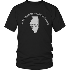 Limited Edition - Illinois Born Illinois Raised Illinois Proud
