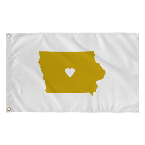 Flag - Iowa Heart of Gold