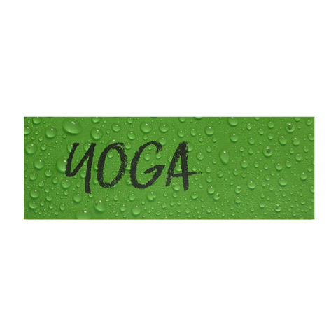 Yoga Mat - Green Wet Leaf