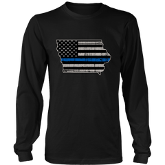 Iowa Police Officer - Thin Blue Line