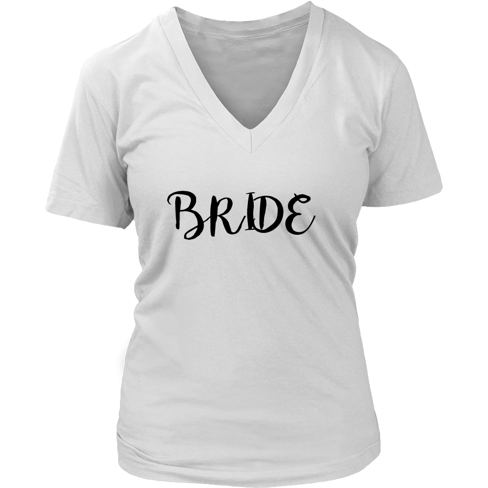 Bride T-shirt - Women's V-neck Shirt