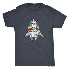 Unicorn - Chest Pop - Next Level Mens Triblend T-Shirt
